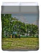 John Deere Tractor At Dusk Duvet Cover