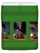 John Deere Tractor Pull Poster Duvet Cover