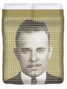 John Dillinger Mug Shot - Gold Duvet Cover