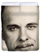 John Dillinger Mug Shot Sepia Duvet Cover