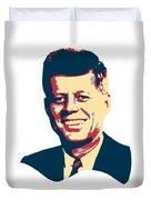 John F Kennedy Color Pop Art Duvet Cover