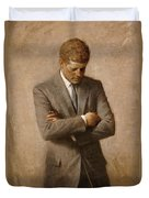 John F Kennedy Duvet Cover by War Is Hell Store
