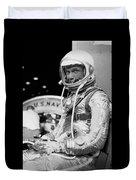 John Glenn Wearing A Space Suit Duvet Cover