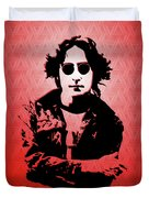 John Lennon - Imagine - Pop Art Duvet Cover