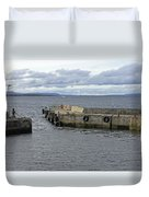 John O'groats Harbour Duvet Cover