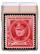 John Philip Sousa Postage Stamp Duvet Cover