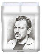 John Steinbeck Duvet Cover