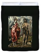 John The Baptist And Saint John The Evangelist Duvet Cover