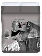 John Wayne And Director Howard Hawks  Alienated Rio Lobo Old Tucson Arizona 1970-2016 Duvet Cover