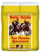 John Wayne And William Holden In The Horse Soldiers 1959 Duvet Cover