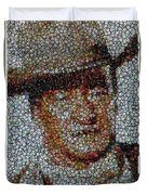 John Wayne Bottle Cap Mosaic Duvet Cover