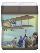 John William Alcock And Arthur Whitten Brown Who Flew Across The Atlantic Duvet Cover