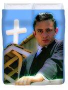 Johnny Cash 1961 Duvet Cover