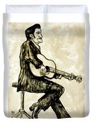 Johnny Cash II Duvet Cover