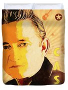 Johnny Cash Poster  Duvet Cover