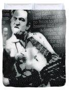 Johnny Cash Rebel Vertical Duvet Cover