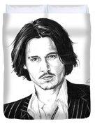 Johnny Depp Portrait Duvet Cover