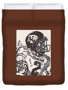 Johnny Manziel 5 Duvet Cover by Jeremiah Colley