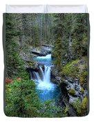 Johnston Canyon Falls Hike Lower Falls Duvet Cover
