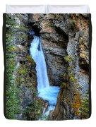 Johnston Canyon Falls Hike Upper Falls Duvet Cover