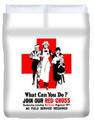 Join Our Red Cross Duvet Cover