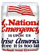 Arise America Before It Is Too Late - Join The Navy Duvet Cover
