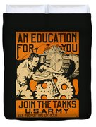 Join The Tanks Duvet Cover