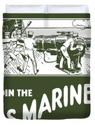 Join The Us Marines Duvet Cover
