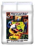 Join The Women's Land Army Duvet Cover