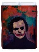 Joker Heath Ledger The Dark Knight Duvet Cover