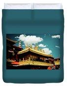Jokhang Temple Fragment  Lhasa Tibet Artmif.lv Duvet Cover