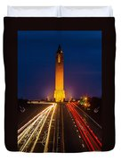 Jones Beach Pencil Light Trails Duvet Cover