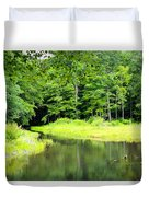 Jones Mill Run Creek Duvet Cover