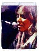 Joni Mitchell, Music Legend Duvet Cover