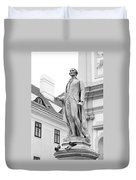 Josef Haydn In Black And White Duvet Cover