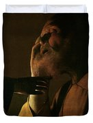 Joseph And The Angel Duvet Cover by Georges de la Tour