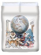 Joseph Pulitzer Cartoon Duvet Cover