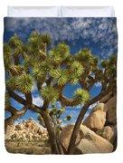 Joshua Tree And Blue Sky Duvet Cover