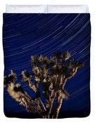 Joshua Tree And Star Trails Duvet Cover by Steve Gadomski