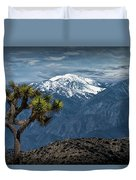 Joshua Tree At Keys View In Joshua Park National Park Duvet Cover