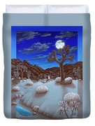 Joshua Tree At Night Duvet Cover