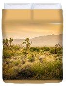 Joshua Tree Golden Duvet Cover