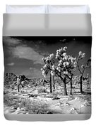 Joshua Trees In Snow Duvet Cover