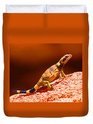 Joshua Tree Lizard Duvet Cover