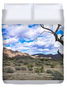 Joshua Tree National Park Landscape Duvet Cover