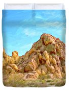 Joshua Tree Rocks Duvet Cover