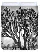 Joshua Trees Bw Duvet Cover