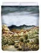 California Desert Landscape - Watercolor Art Duvet Cover