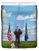 Journey Of A Governor Dave Heineman Duvet Cover