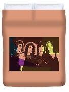 Journey Rock Band Pop Art Duvet Cover
